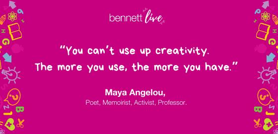 Maya Angelou on Being Creative