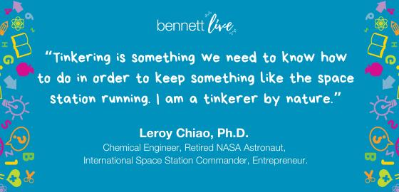 Leroy Chiao on the Joy of Tinkering